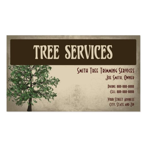 Tree service business card templates bizcardstudiocom for Tree service business card