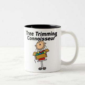 Tree Trimming Conoisseur Two-Tone Coffee Mug