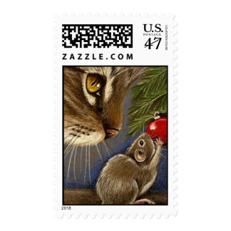 Tree Trimming Friends Postage