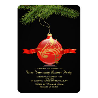 Tree Trimming Party Invitation