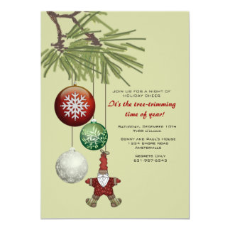 Tree Trimming Time Invitation