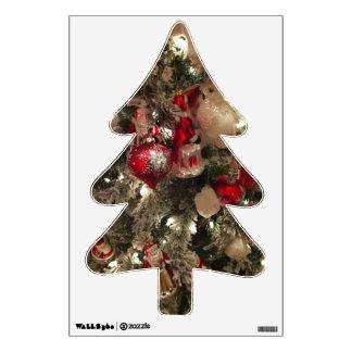 Tree Trimmings Christmas wall decal