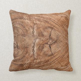Tree Truck Cross-Section Throw Pillow