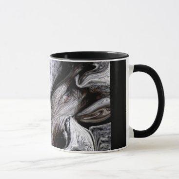 """Coffee Themed """"TREE TRUNK"""" 11 oz. BLACK RINGER COFFEE MUG"""