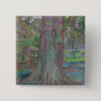 Tree Trunk, 1916 (oil on canvas) Pinback Button