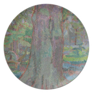 Tree Trunk, 1916 (oil on canvas) Party Plates