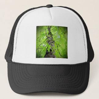 Tree Trunk Branches and Leaves Trucker Hat