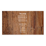 Tree Trunk Image Card Business Card
