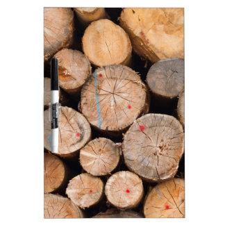 tree trunk just cut by lumberjack Dry-Erase board
