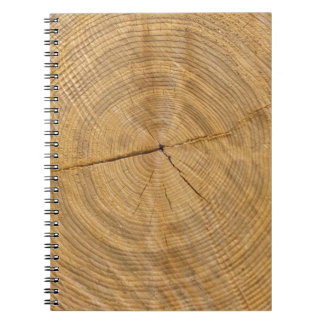 tree trunk spiral notebook