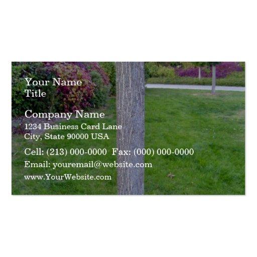 Tree Trunk Vertical Texture Business Card