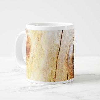 Tree Trunk with Knots Giant Coffee Mug