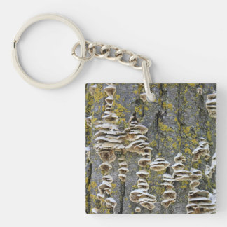 Tree Trunk with Lichen Keychain