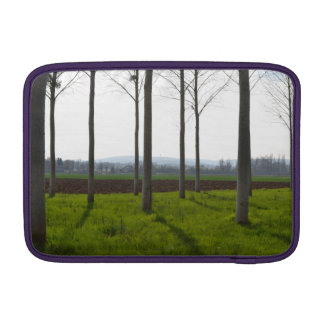 Tree trunks and the French countryside MacBook Sleeve