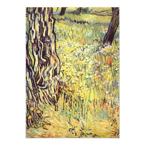 Tree trunks by Vincent van Gogh 5x7 Paper Invitation Card