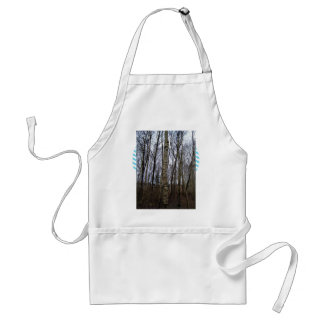 Tree Trunks in Forest Adult Apron
