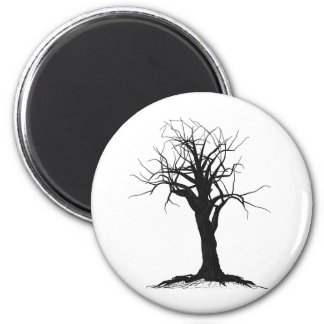 Tree Two 2 Inch Round Magnet