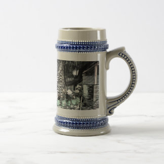 Tree used as decoration beer stein