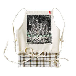Tree used as decoration zazzle HEART apron