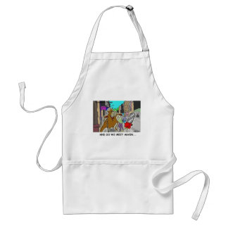 Tree Vs Chain Saw Funny Rick London Gifts Adult Apron