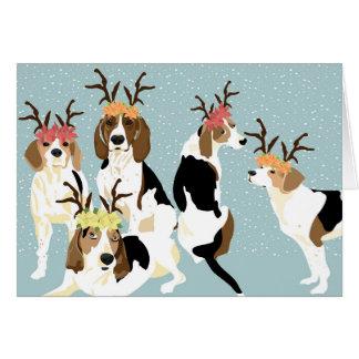 Tree Walker Coonhound Holiday (blank inside) Card