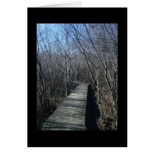 Tree walkway card