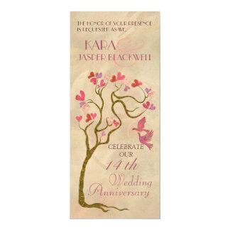 Tree wedding anniversary invitations