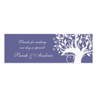 Tree Wedding Favor Tag Purple 669 Mini Business Card