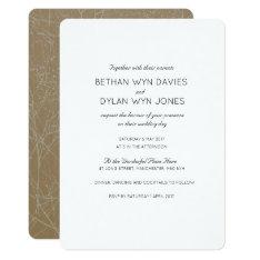 Tree Wedding Invitation Card at Zazzle