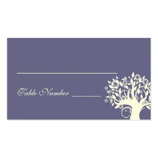 Tree Wedding Seating Card Purple 669