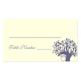 Tree Wedding Table Card Purple 669
