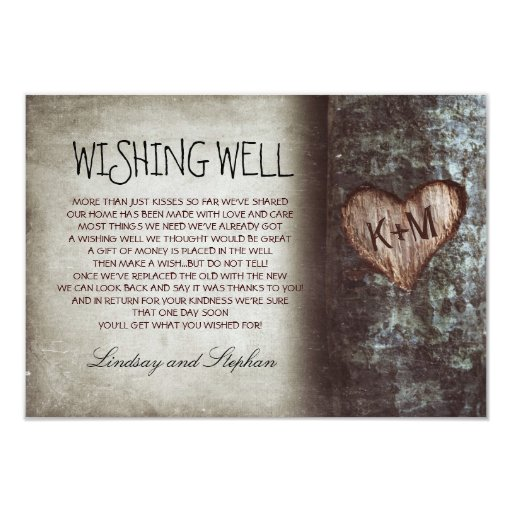 Tree Wedding Wishing Well Rustic Cards