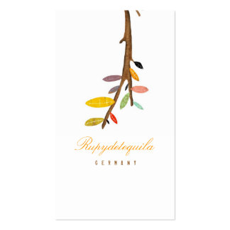 Tree White Business Card
