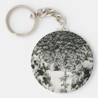 Tree Winter Wonderland Keychains