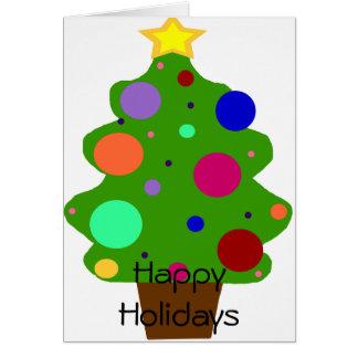 Tree with balls, Happy Holidays card