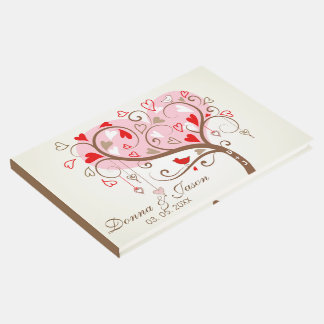 Tree With Birds And Hearts Guest Book