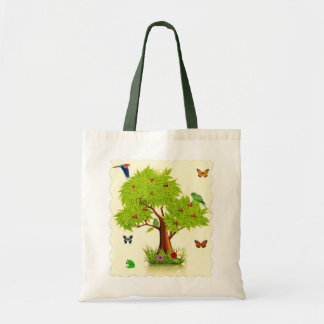 Tree With Birds Tote Budget Tote Bag