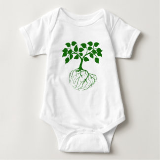 Tree with brain roots baby bodysuit