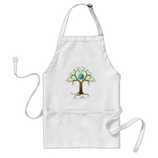 Tree with branches surrounding planet earth adult apron