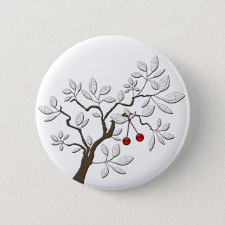 Tree with Cherries Pinback Button