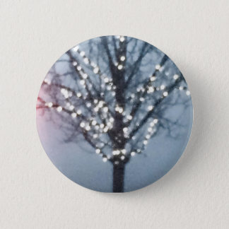 Tree with christmas lights pinback button