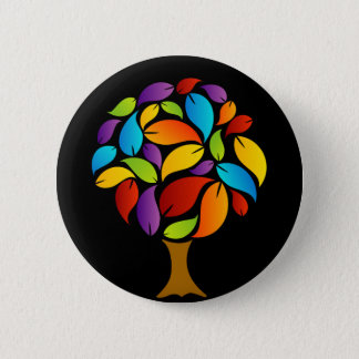 Tree with colorful leaves button