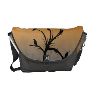 Tree with Crows Courier Bag