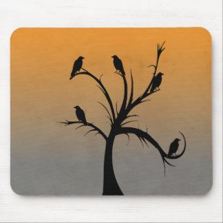 Tree with Crows Mouse Pad