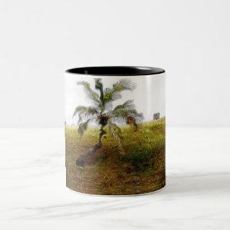 Tree with faces Two-Tone coffee mug