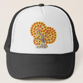 Tree with Fall Leaves Trucker Hat