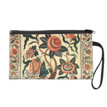 Tree with Flowers and Horns of Plenty, India 1750 Wristlet Purses  at Zazzle