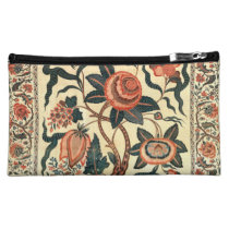 Tree with Flowers and Horns of Plenty, India 1750 Cosmetic Bags  at Zazzle