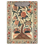 Tree with Flowers and Horns of Plenty, India 1750 Clipboard at Zazzle