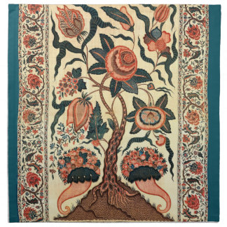 Tree with Flowers and Horns of Plenty, India 1750 Cloth Napkin